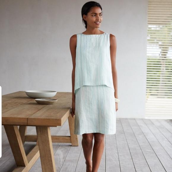 35503593960 J. Jill Dresses   Skirts - J.Jill pure jill printed tiered linen dress